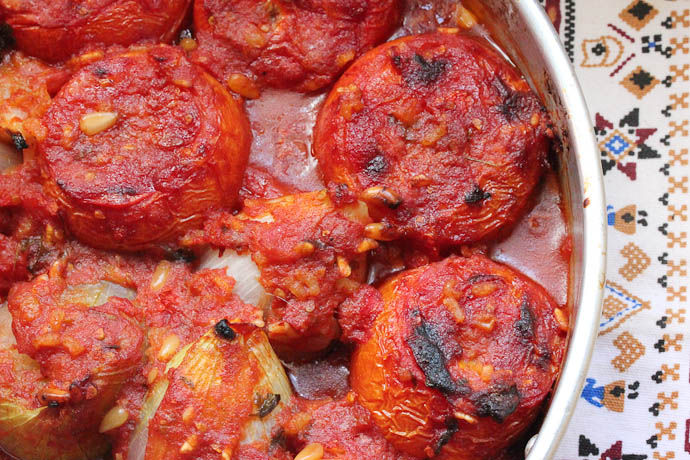 Full of Flavour Stuffed Tomatoes