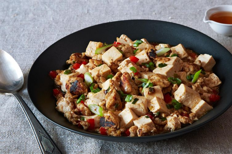 Ma Po Tofu with Ground Turkey