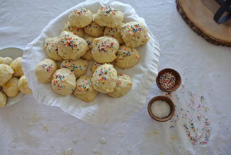 italian lemon & ricotta biscotti