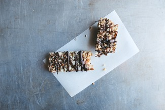 Salted Dark Chocolate Nut Bars