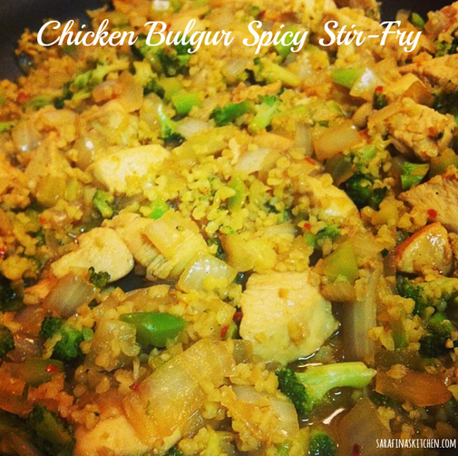 Chicken Bulgur Spicy Stir-Fry