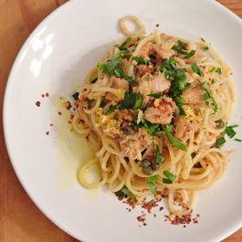 spaghetti con tonno