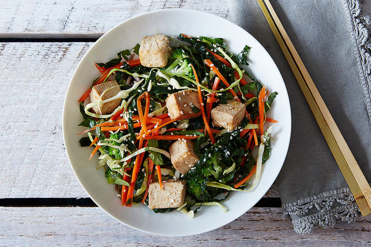 Citrus Ginger Tofu Salad with Soba Noodles