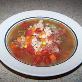 Nana's Beef Barley Soup (or as she called it) Slop
