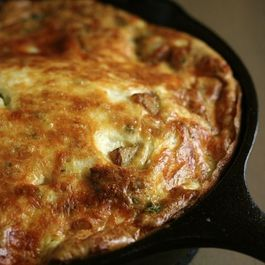 Potato-tomato-and-smoked-mozzarella-frittata