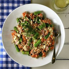 Salmon, Asparagus, and Couscous Salad