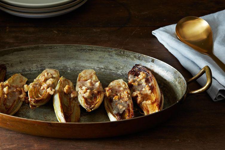 Roasted Endive with Walnut Vinaigrette