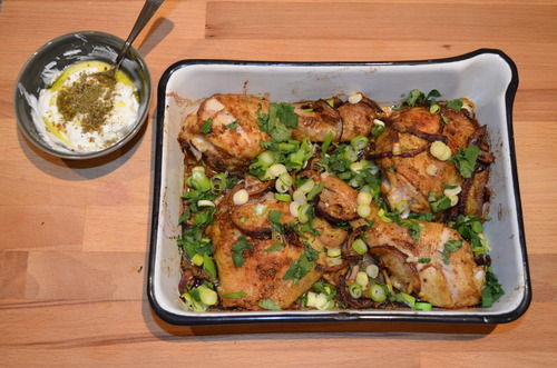 Spiced Roast Chicken with Za'atar Yoghurt
