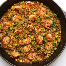 A SHRIMP AND QUINOA PAELLA