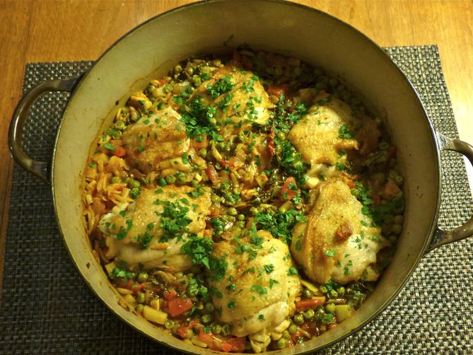 Chicken Sofrito with Orzo Recipe on Food52