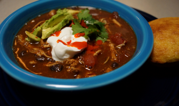 Smoky Chicken and Black Bean Chili
