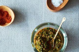 Bryant Terry's Mustard Green Harissa