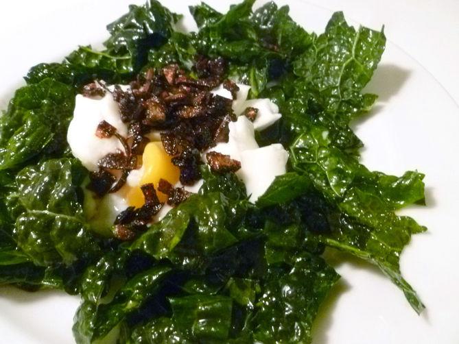 Kale Salad Lyonnaise