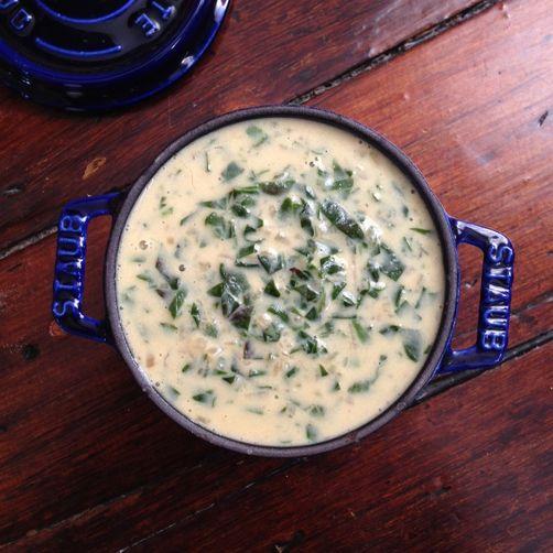 Milk-Braised Beet Greens