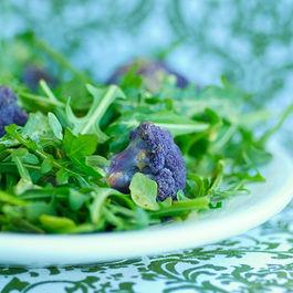 Roasted Purple Cauliflower and Arugula Salad