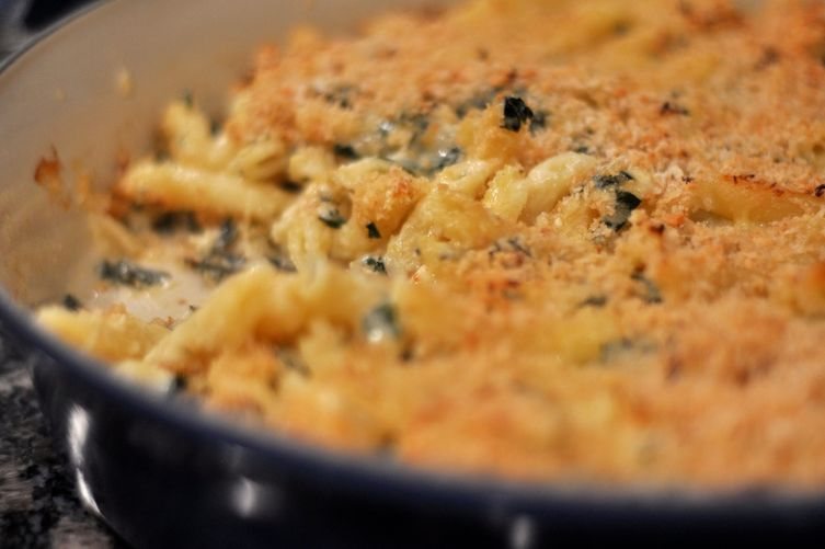 Kale Macaroni and Cheese in Homage to Woodberry Kitchen