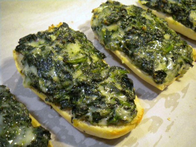 Quick Spinach Bread
