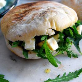 Torta al Testo - Italian Flatbread with Rucola and Mozzarella