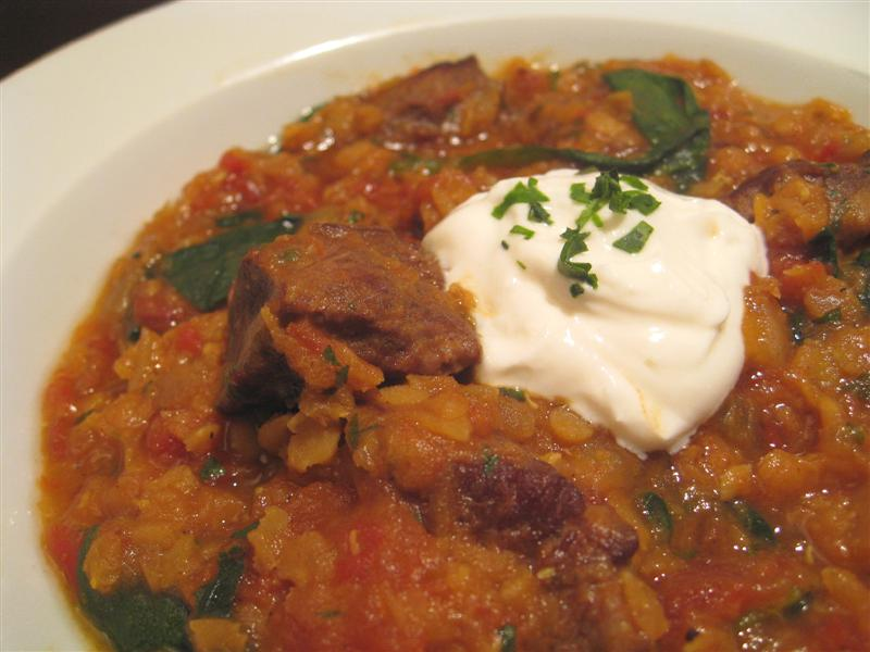 Curried Beef and Red Lentil Stew