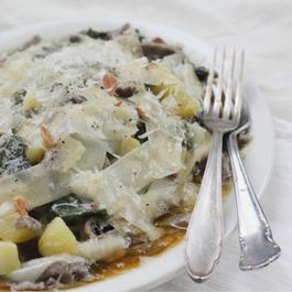 Buckwheat Pasta with Potatoes and Swiss Chard