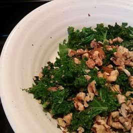 Wilted Kale and Walnut Salad