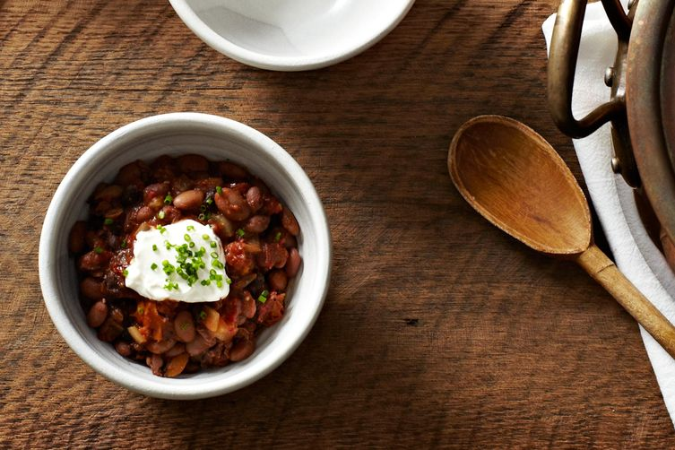 Slightly Smoky Mixed-Bean Chili recipe on Food52.com