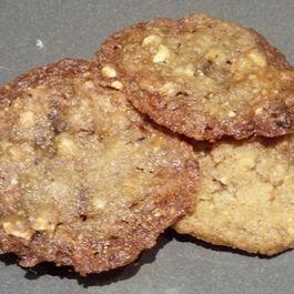 Hazelnut Chocolate Chip Lace Cookies