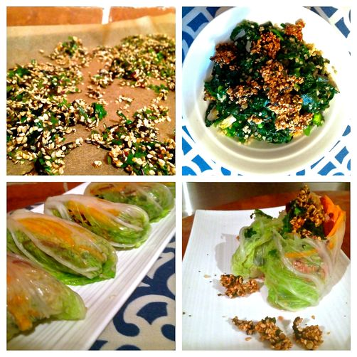 Sesame, Quinoa & all-the-Greens Power Wrap