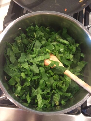 Spinach with Split-Peas and Coriander Tasha