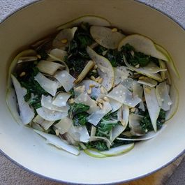 Swish Swiss Chard with Pear, Pine Nuts and Parmesan