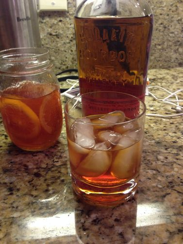 Old Fashioned Cocktail (w/ Blood Orange Syrup)