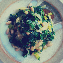 Sauteed Swiss Chard with Garlicky White Beans