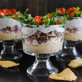 Chicken Shawarma Seven Layer Dip