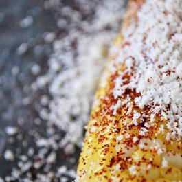 corn on the cob with cotija, chili & lime