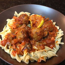 Moroccan Spiced Chicken Meatball Stew