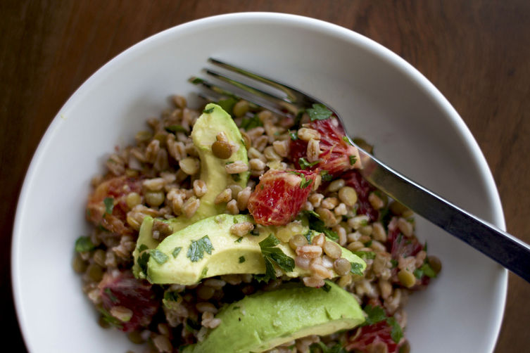 Lentil farro salad from Food52