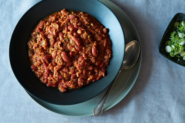 Tempeh chili from Food52