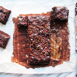 Pomegranate Chocolate Chip Brownies