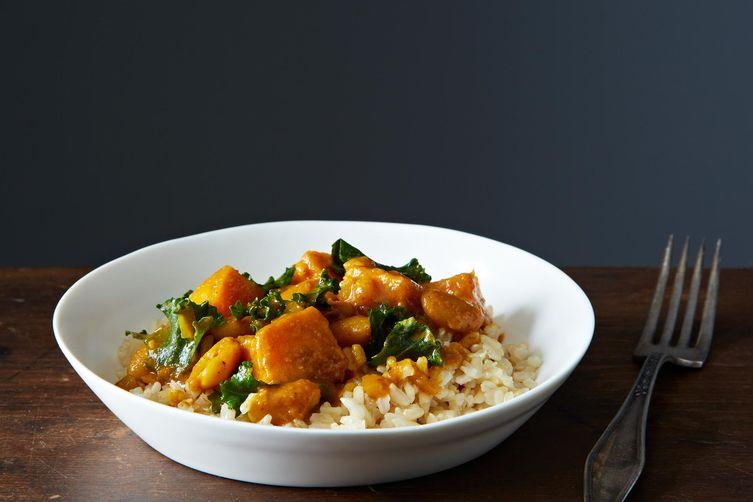 Vegan Kale and White Bean Korma