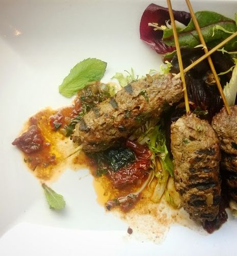 Lamb Biftekia with Anchovy, Sun-Dried Tomato, and Mint