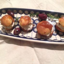 Profiteroles with Savory Chantilly Cream