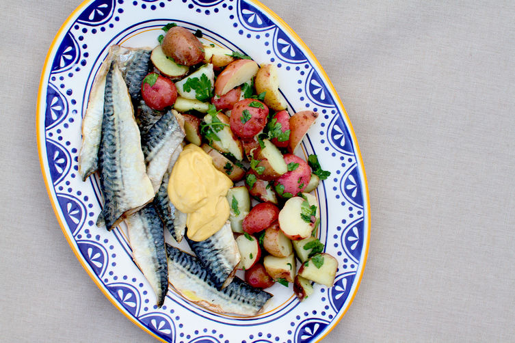 Roasted Mackerel with Aioli and Parsleyed Potatoes