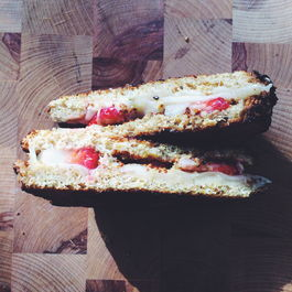 Double Toasted Honey Dijon and Strawberry Grilled Cheese