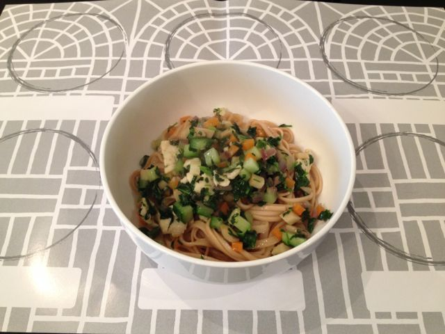 Shanghai Noodles Served with Sauce