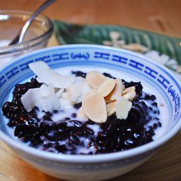 Black Rice, White Sauce