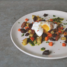 roasted roots and runny yolks