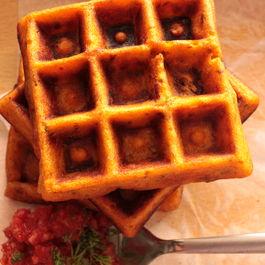 Sun Dried Tomato Waffles