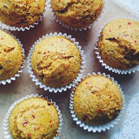 Turmeric-Chili Stoneground Cornmeal Muffins