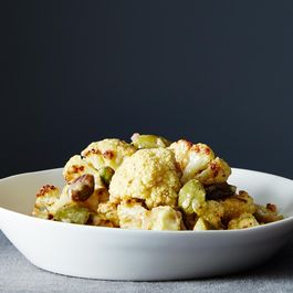 Mustard-Roasted Cauliflower