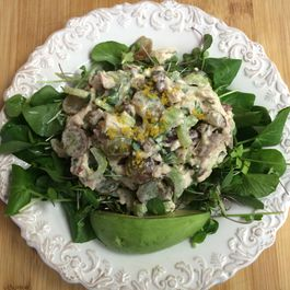 Lemony Chicken Salad with Watercress